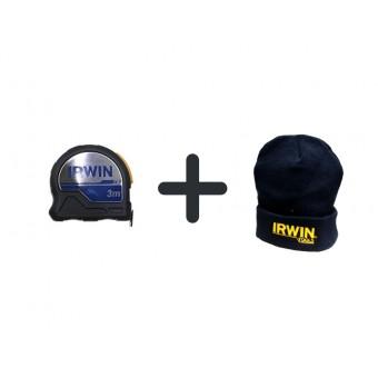 Darček k objednávke - IRWIN Zviňovací meter XP 3m 10507796  + zimná čiapka IRWIN spolu v hodnote 30,- € ZADARMO