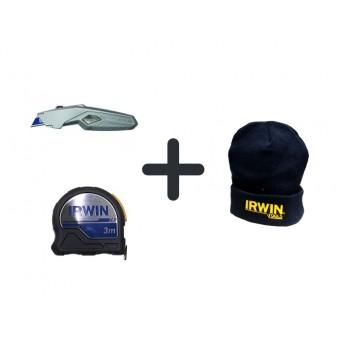 Darček k objednávke - IRWIN Meter XP 3m 10507796 + IRWIN  Univerzálny vysúvací nôž 10508105 + zimná čiapka IRWIN spolu v hodnote 43,-€ ZADARMO