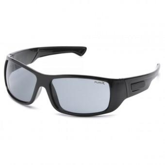 Slnečné okuliare Furix, čierny rám, šedé sklá