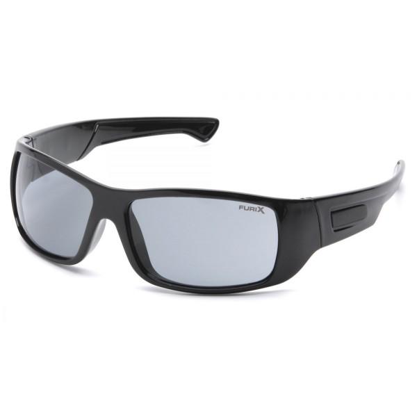 be0d9b711 Slnečné okuliare Furix, čierny rám, šedé sklá
