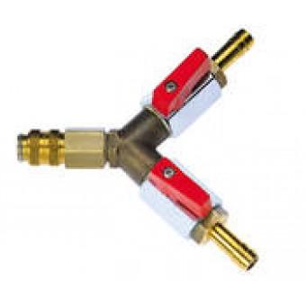 ROTHENBERGER Plynový zkušební adaptér - uzavírací ventil s průmyslovou spojkou
