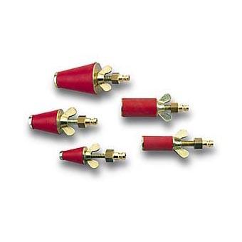 ROTHENBERGER Plynové skúšobné zátky / adaptéry kužeľového tvaru s hadicovou koncovkou