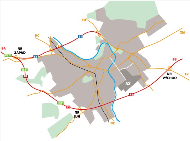 mapa msv